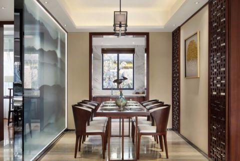 厨房餐桌新中式风格装饰效果图