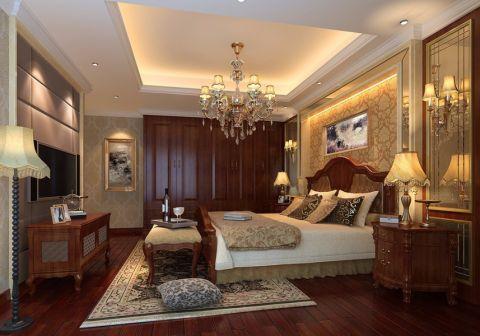 卧室地板砖新中式风格装潢效果图