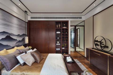 卧室床新中式风格装潢图片