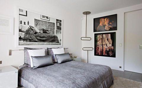 卧室床头柜北欧风格装潢设计图片