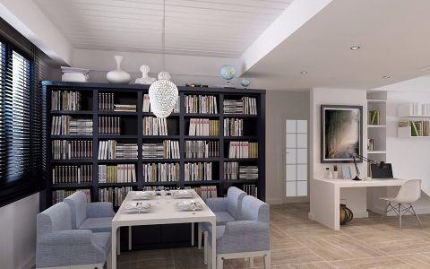 书房书架北欧风格效果图