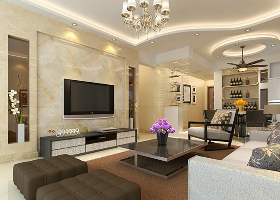 3室1卫2厅100平米现代简约风格