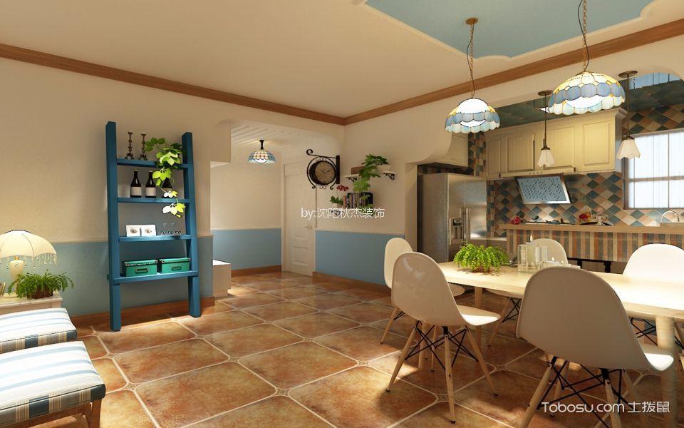 梧桐苑地中海风格90平两居室效果图