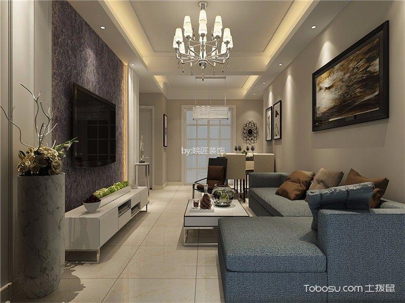 南湖春城现代风格三居室装修效果图