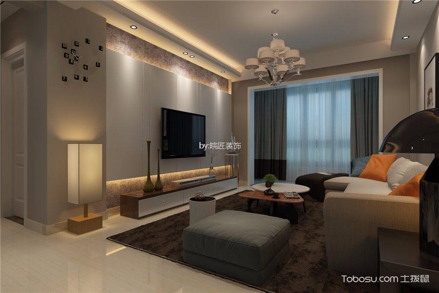 2019现代90平米效果图 2019现代三居室装修设计图片图片