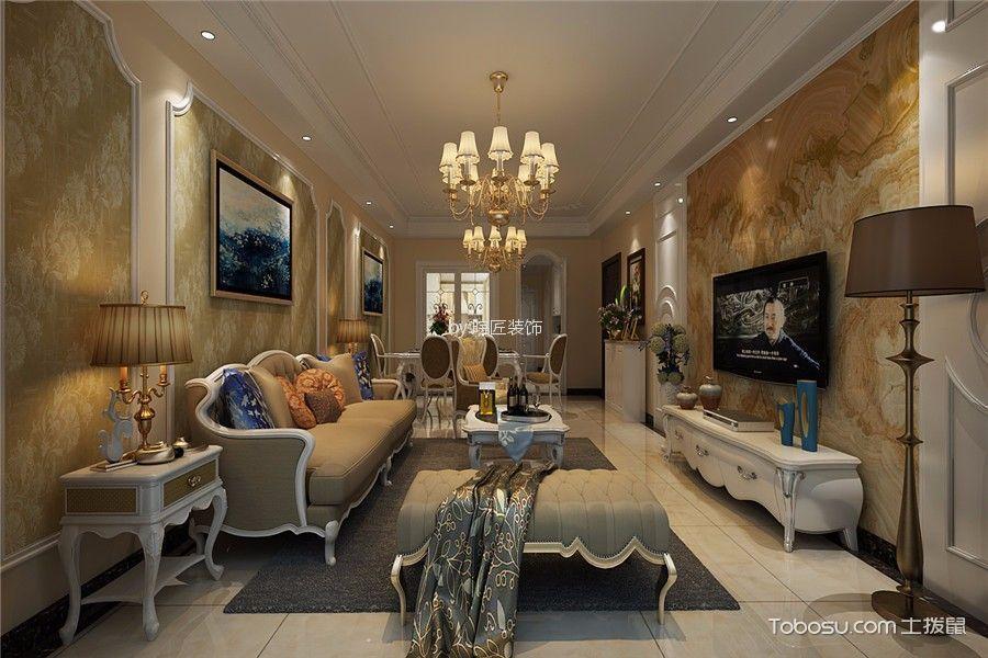 聚福家园110平米现代风格三居室装修效果图
