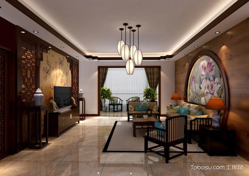 天通苑西120平米中式风格三居室装修效果图