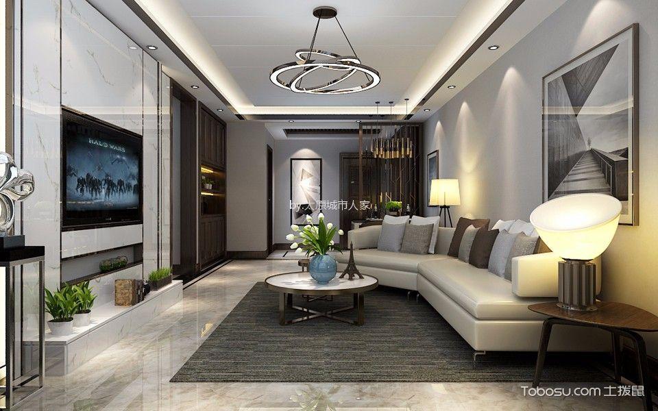 中海寰宇天下116平米现代简约风格三居室装修效果图
