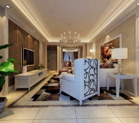 和泰紫园160平米三室两厅简欧装修效果图