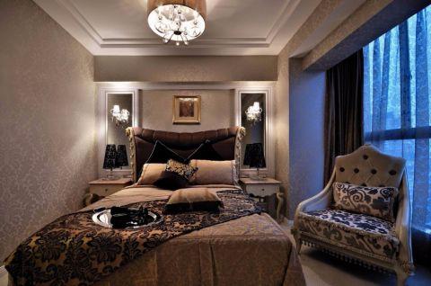 卧室米色背景墙装修美图