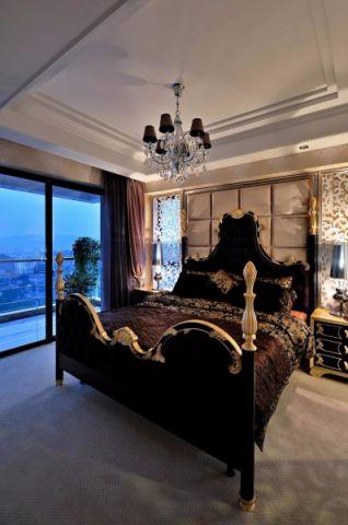 新古典卧室背景墙装潢实景图片