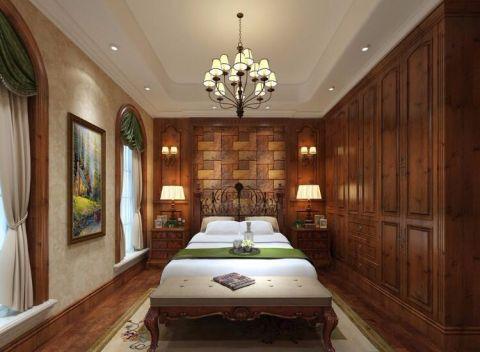 简单大气咖啡色卧室设计方案