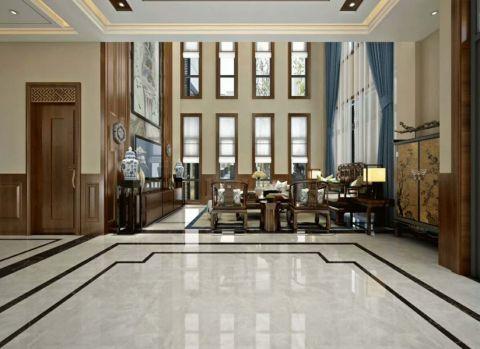客厅地砖新中式家装设计