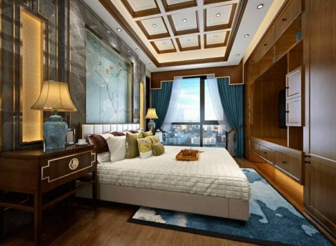新中式卧室床头柜设计图