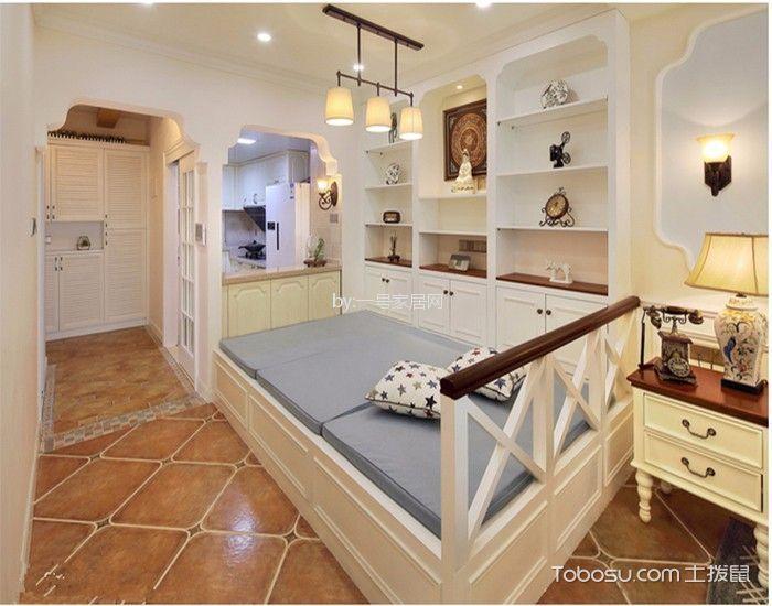 卧室 榻榻米_水湘苑110平美式风格三居室装修效果图