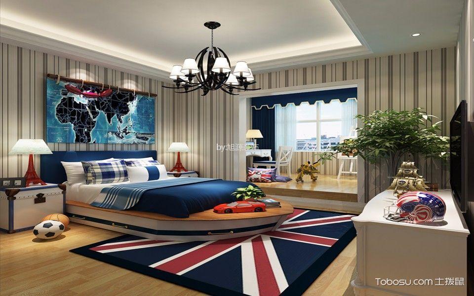 儿童房 照片墙_阳光城翡丽湾125平米地中海三居装修效果图