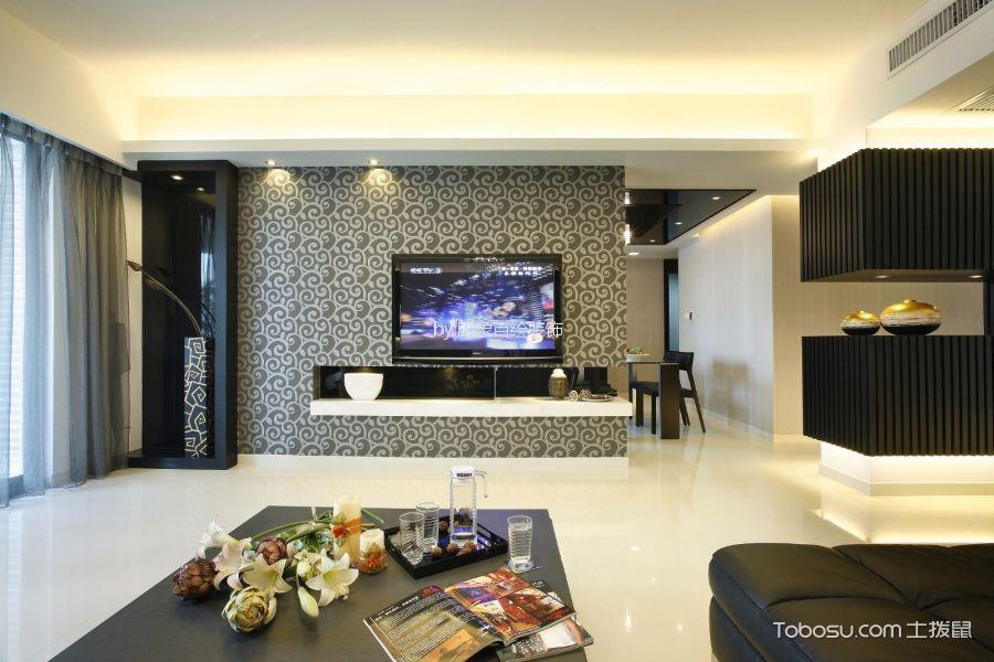 客厅 背景墙_泰禾红树林163平米现代风格装修效果图