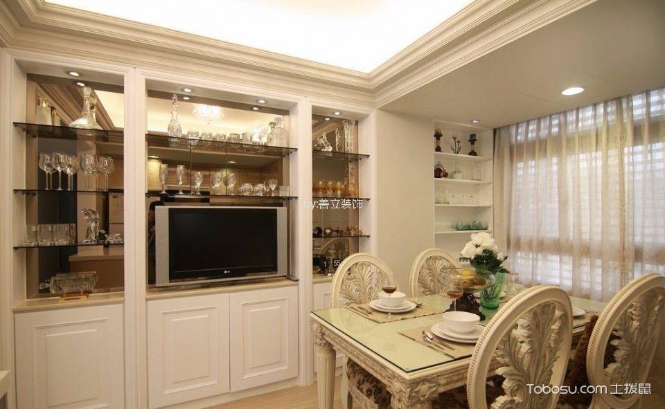 瑞和新苑80平面2室1厅欧式装修效果图