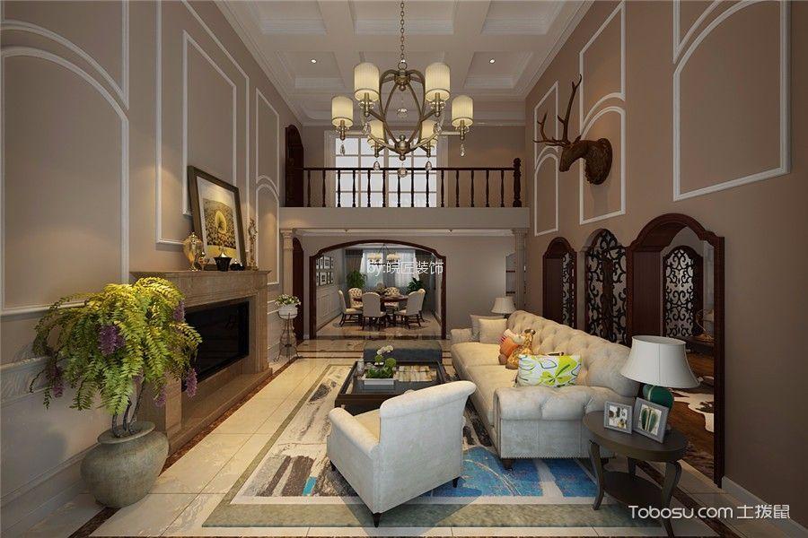 大溪地美式风格三居室装修效果图