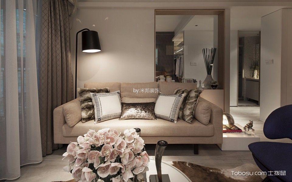 华润国际128平现代风格风格三居室装修效果图