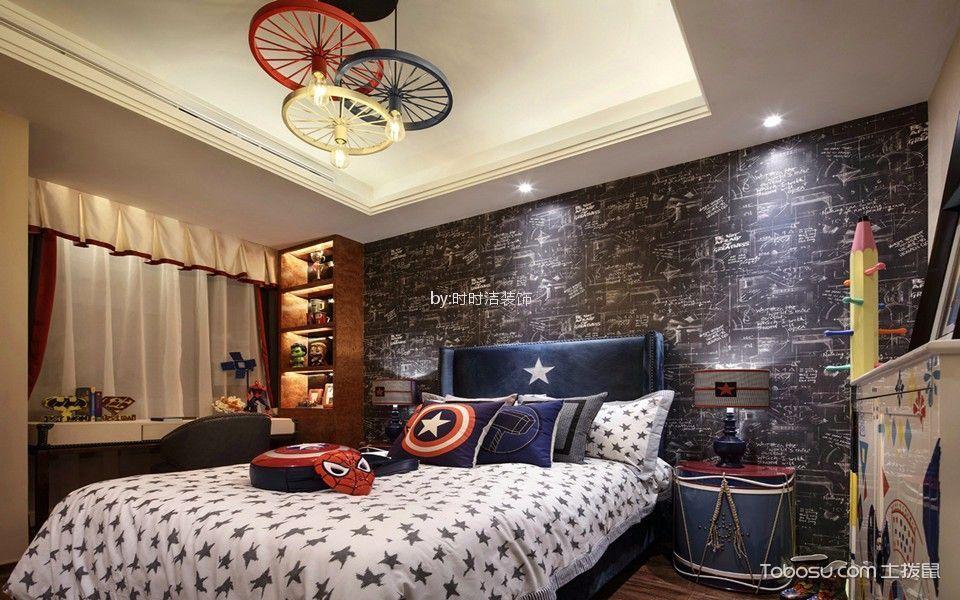 儿童房 床_江景和园混搭风格62平方二居室装修效果图