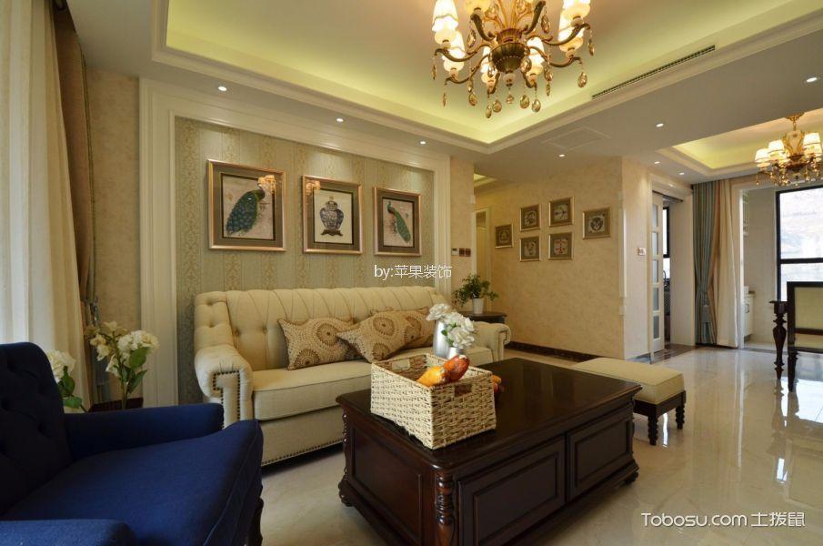 锦南汇110平米美式风格三居室装修效果图