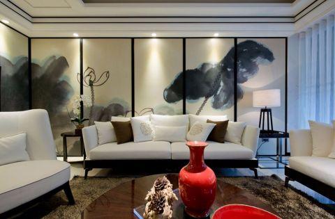 万科西城120平新中式三室装修效果图