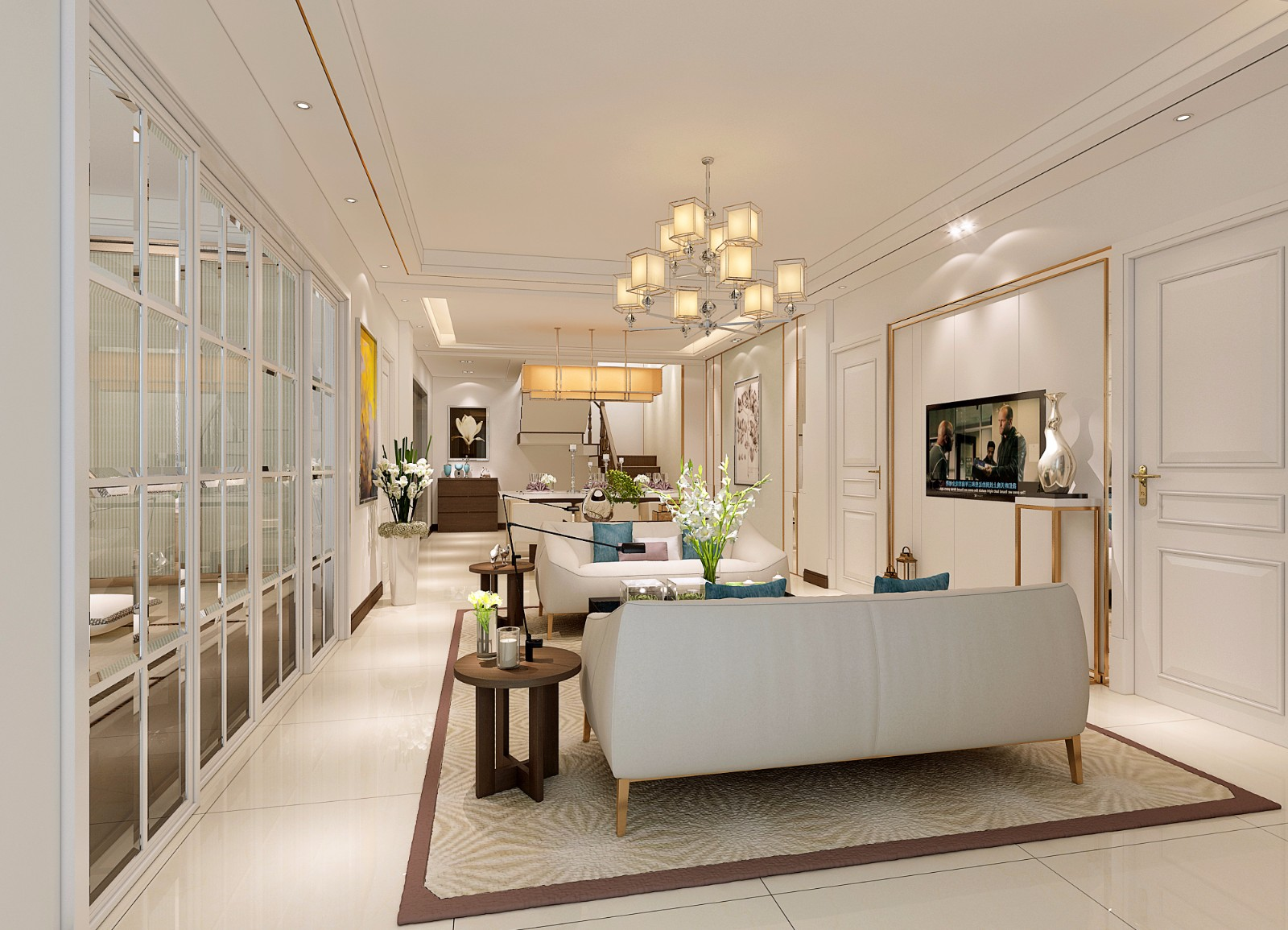 2室1卫2厅108平米现代简约风格