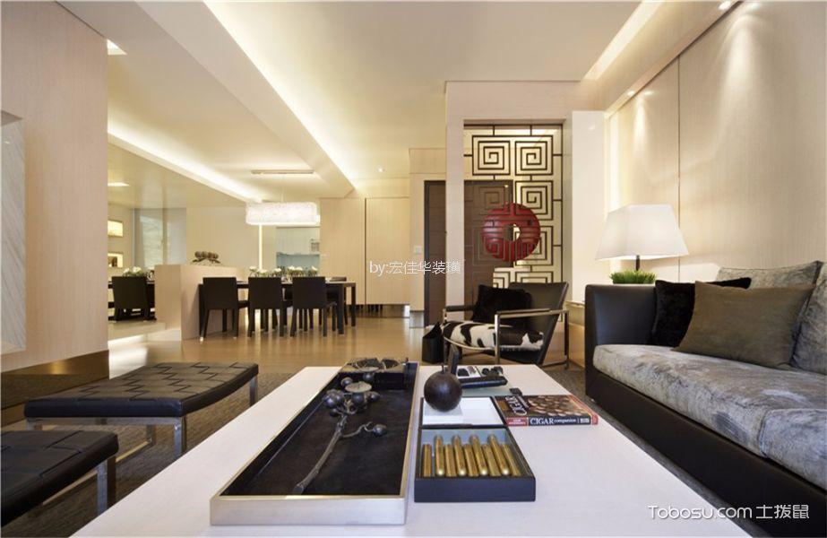 星河国际160平米现代风格三居室装修效果图