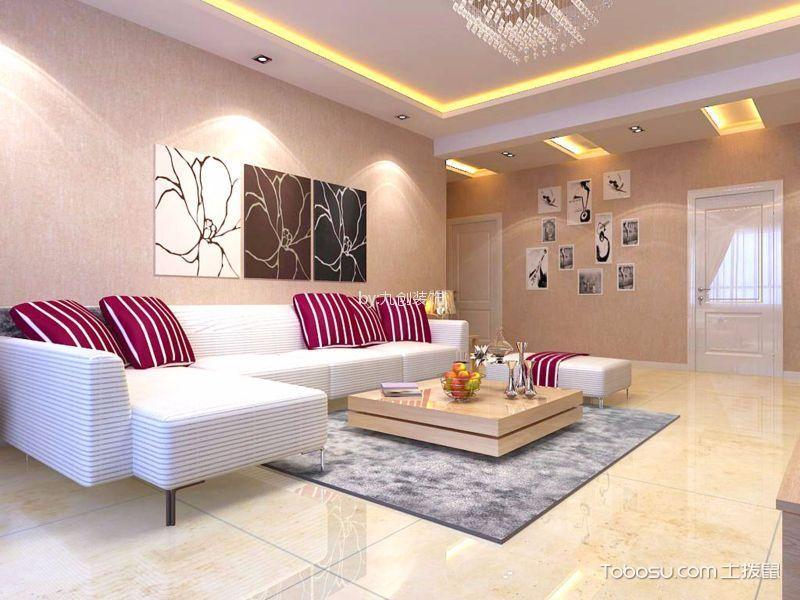 百年华府139平现代简约风格三居室装修效果图
