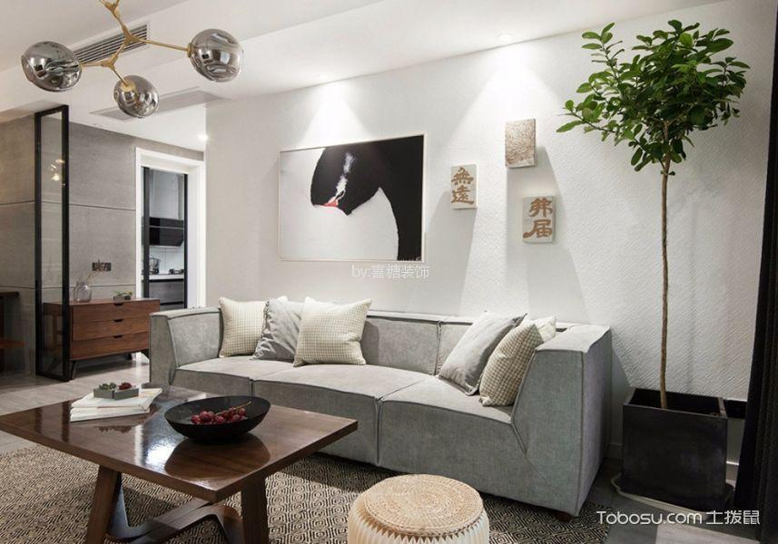 绿城之江1号110平现代简约风格三居室装修效果图