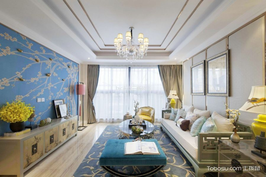 吉安御品国际138平方中式风格三居室装修效果图