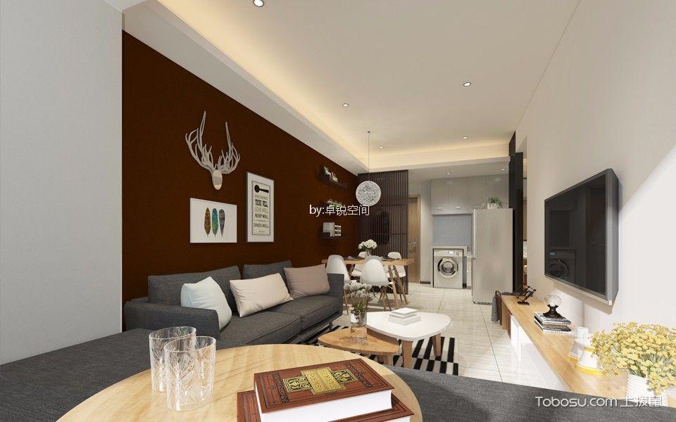 欣桥家园简约风格115㎡两居室装修效果图