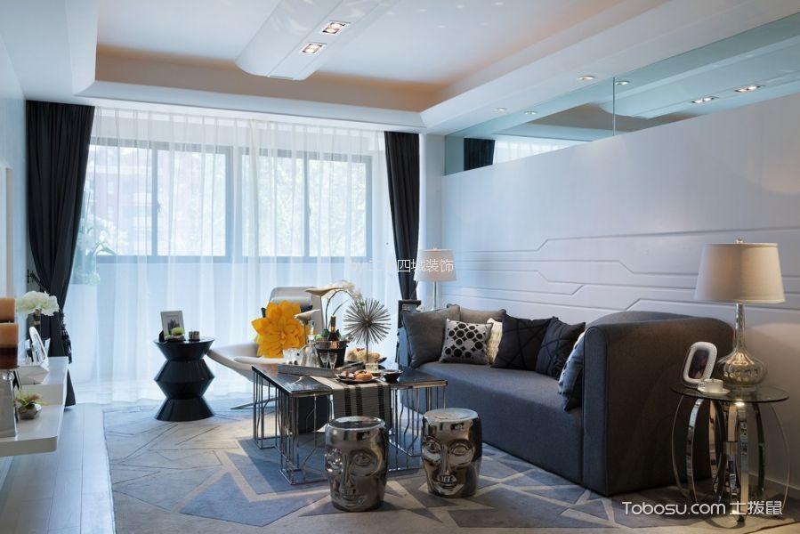 鲁能九龙花园88平现代简约风格四居室装修效果图