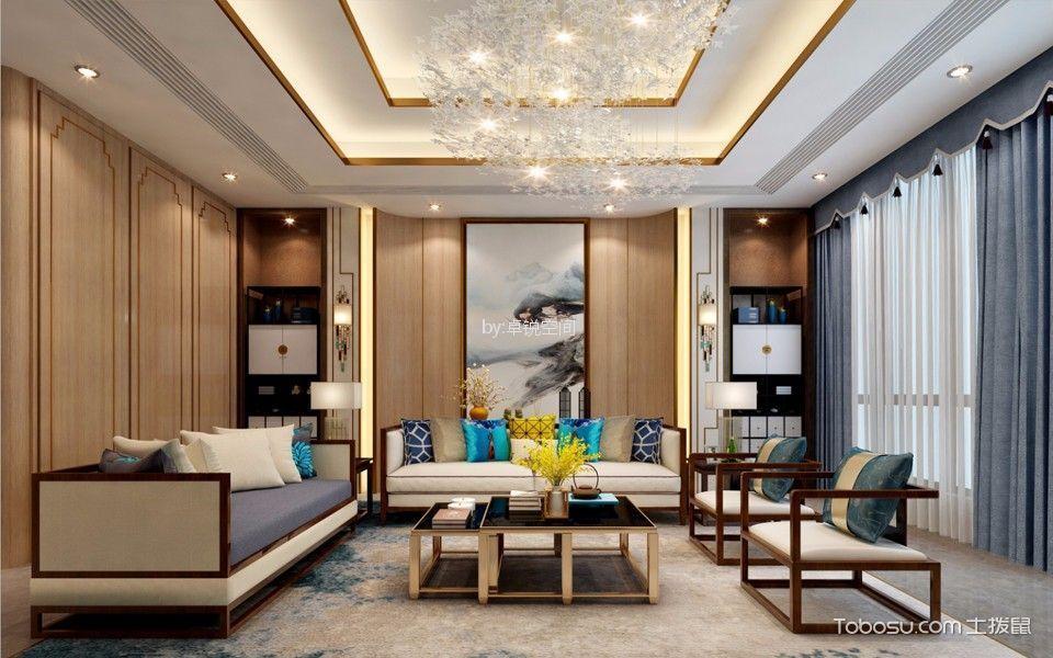 广渠金茂府北区208平米四居室简约风格装修效果图
