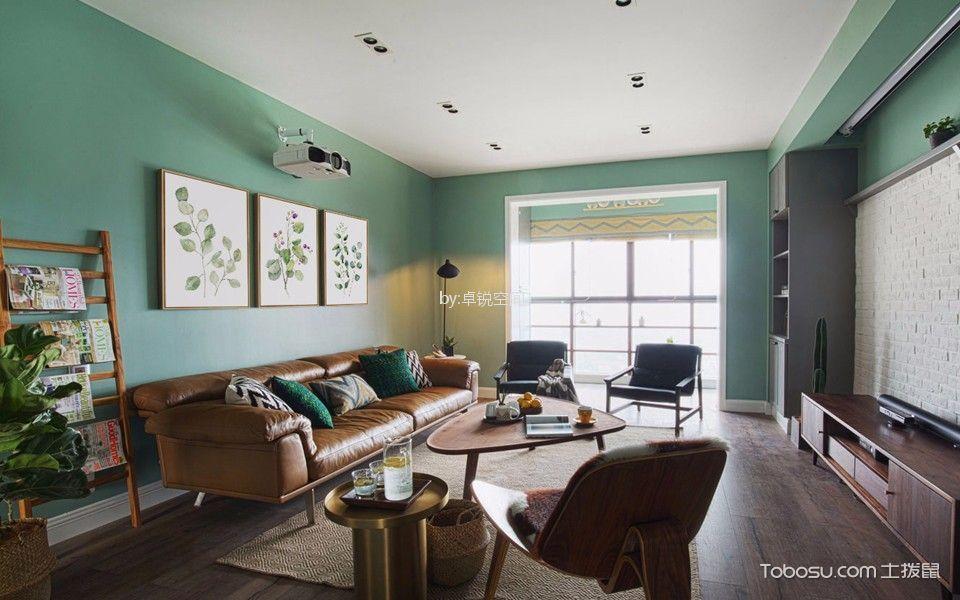 蓝岸丽舍89平米公寓北欧风格装修效果图