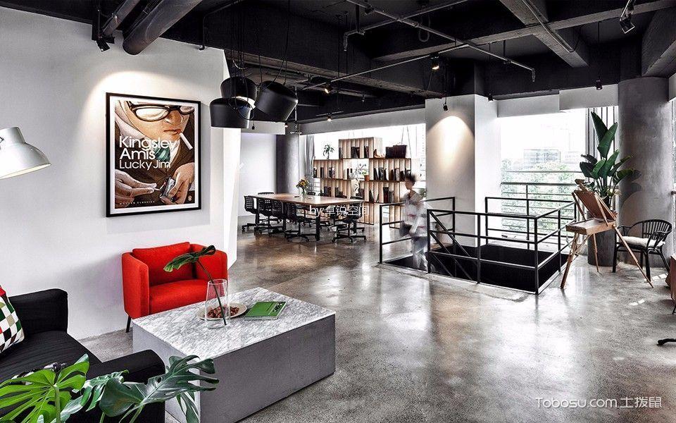 望京办公室465平米工业风格大户型装修效果图