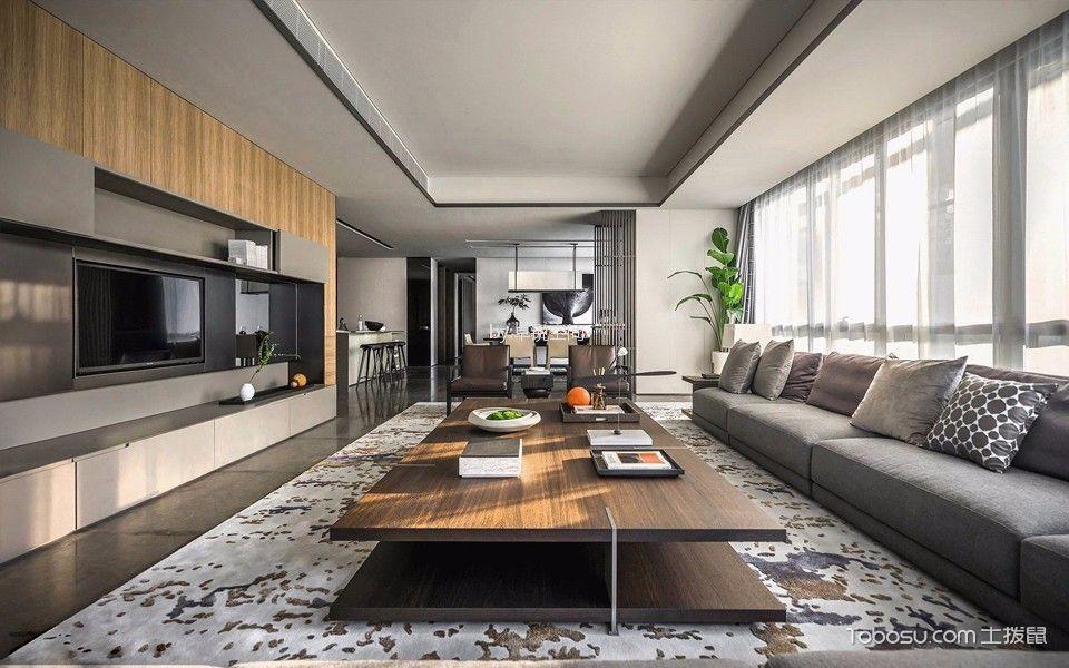 怡海花园别墅现代简约风格409平米装修效果图