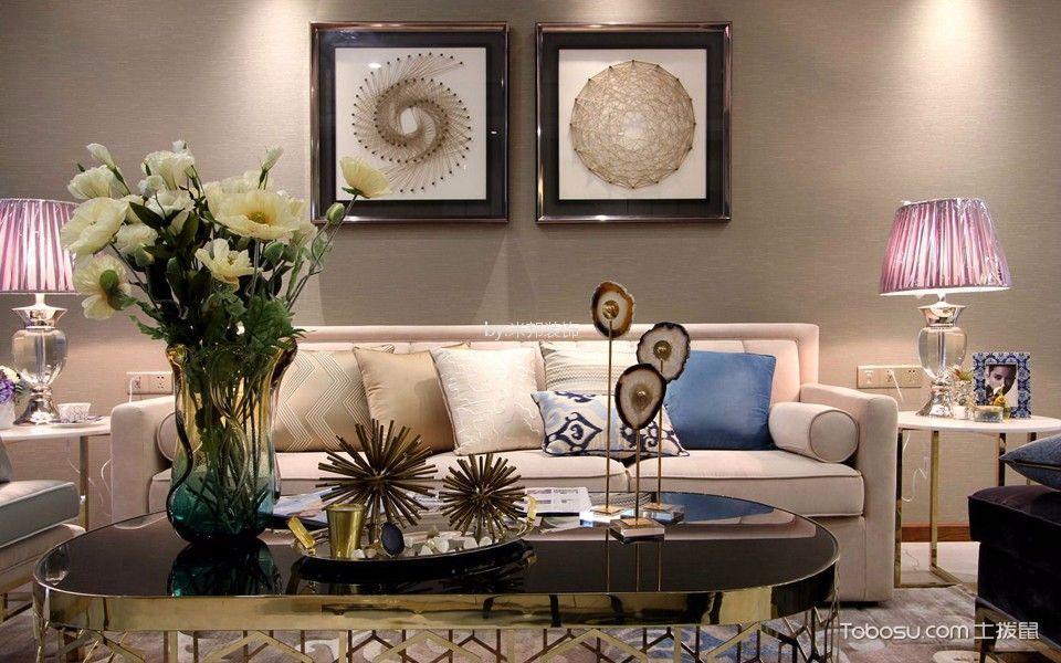聚盛花园明日星城138平现代风格三居室装修效果图