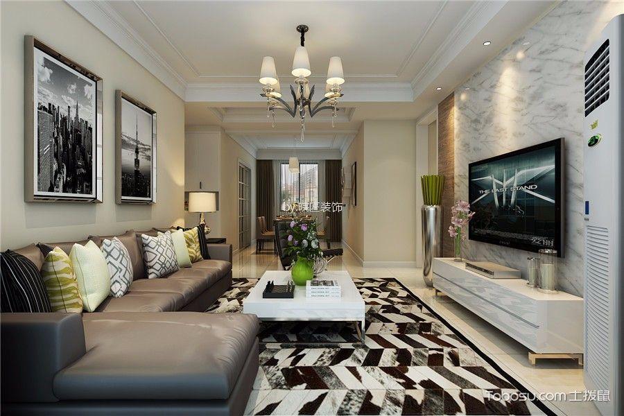 华地润园90平米现代简约风格三居室装修效果图