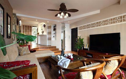 万科锦云坊129平米中式风格四居室装修效果图