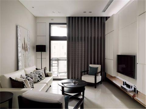 客厅落地窗现代简约风格装修设计图片