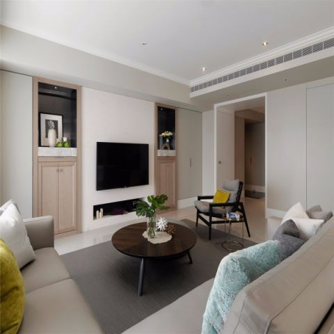 群升江山90平两室两厅现代简约风格装修效果图