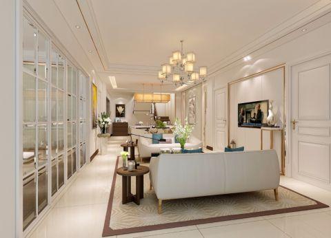 109平米现代简约风格二居室装修效果图