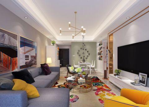 怡心苑100平米美二居室式风格装修效果图