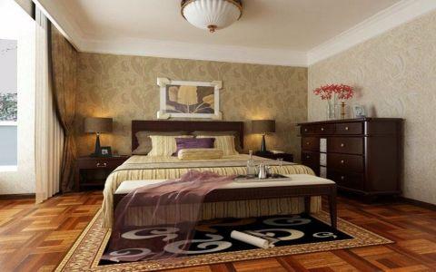 卧室床东南亚风格装潢设计图片