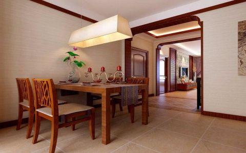 餐厅餐桌东南亚风格效果图