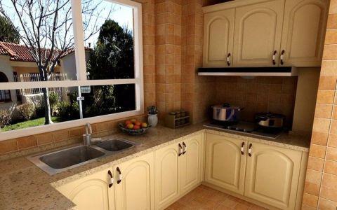 厨房橱柜东南亚风格装潢效果图