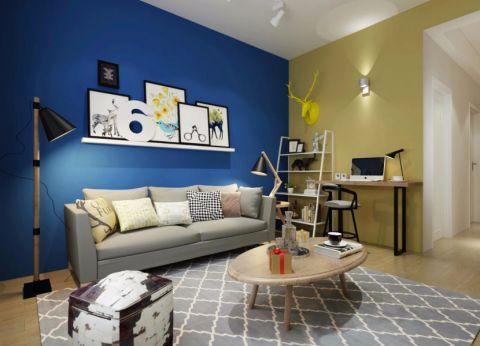 起居室背景墙地中海风格效果图