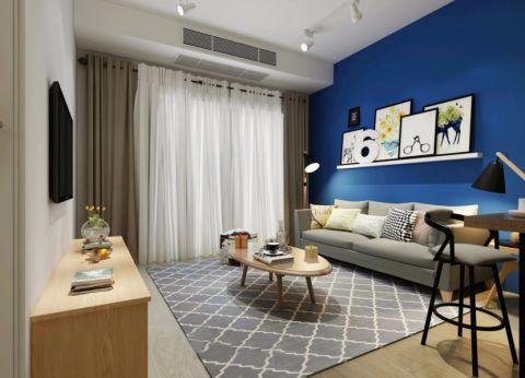 起居室背景墙地中海风格装修效果图